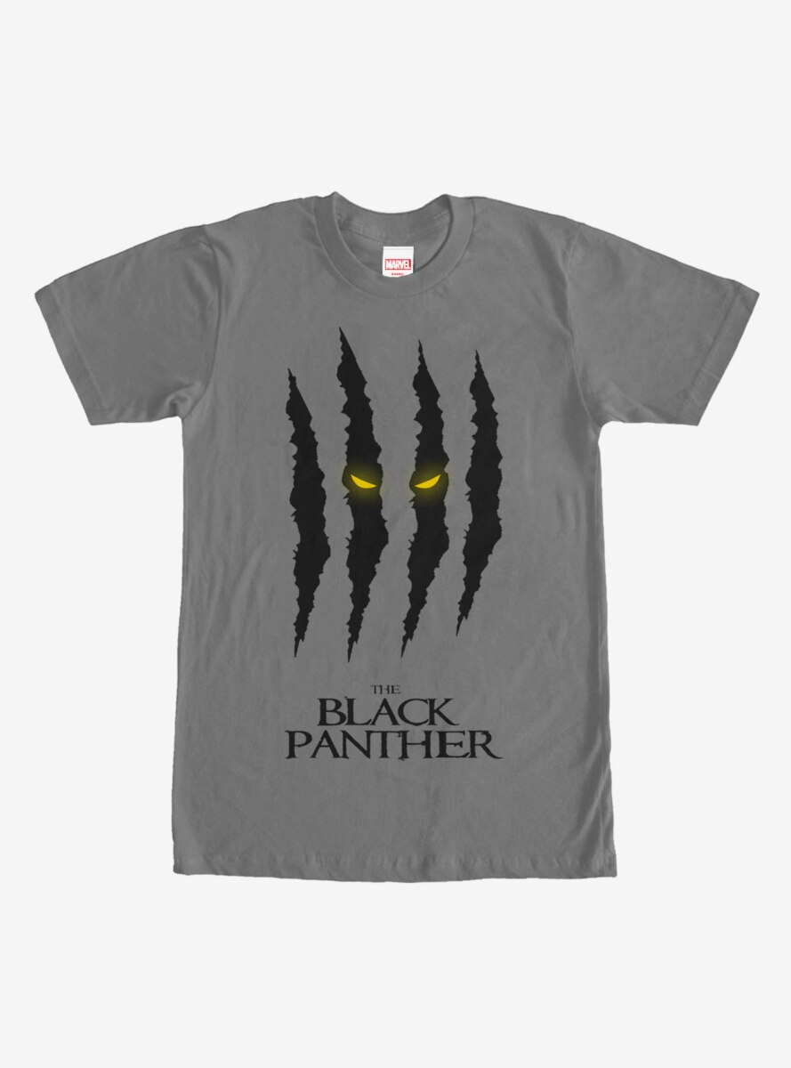 Marvel Black Panther Scratch Print T-Shirt