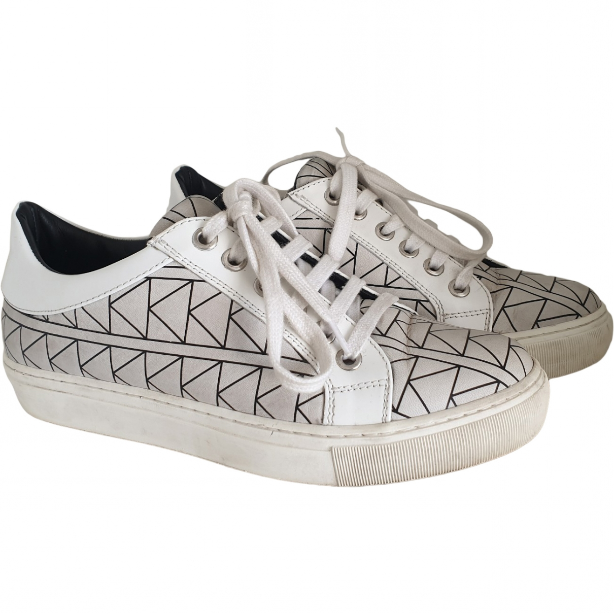 Karl Lagerfeld \N Leather Trainers for Women 35 EU