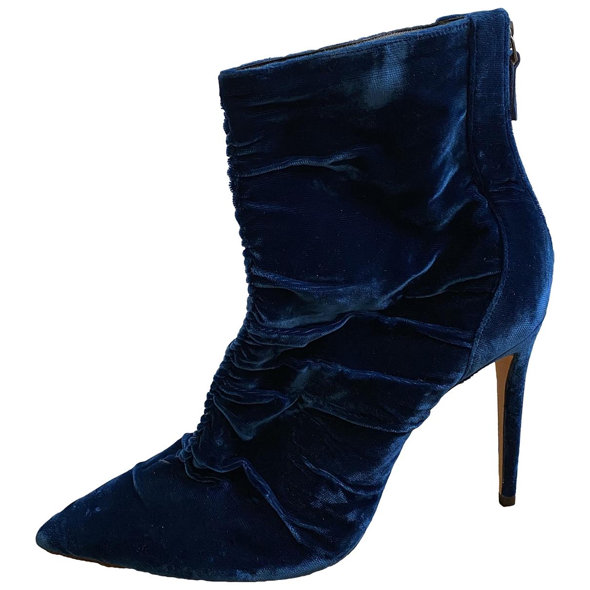 Alexandre Birman \N Blue Velvet Ankle boots for Women 39.5 EU
