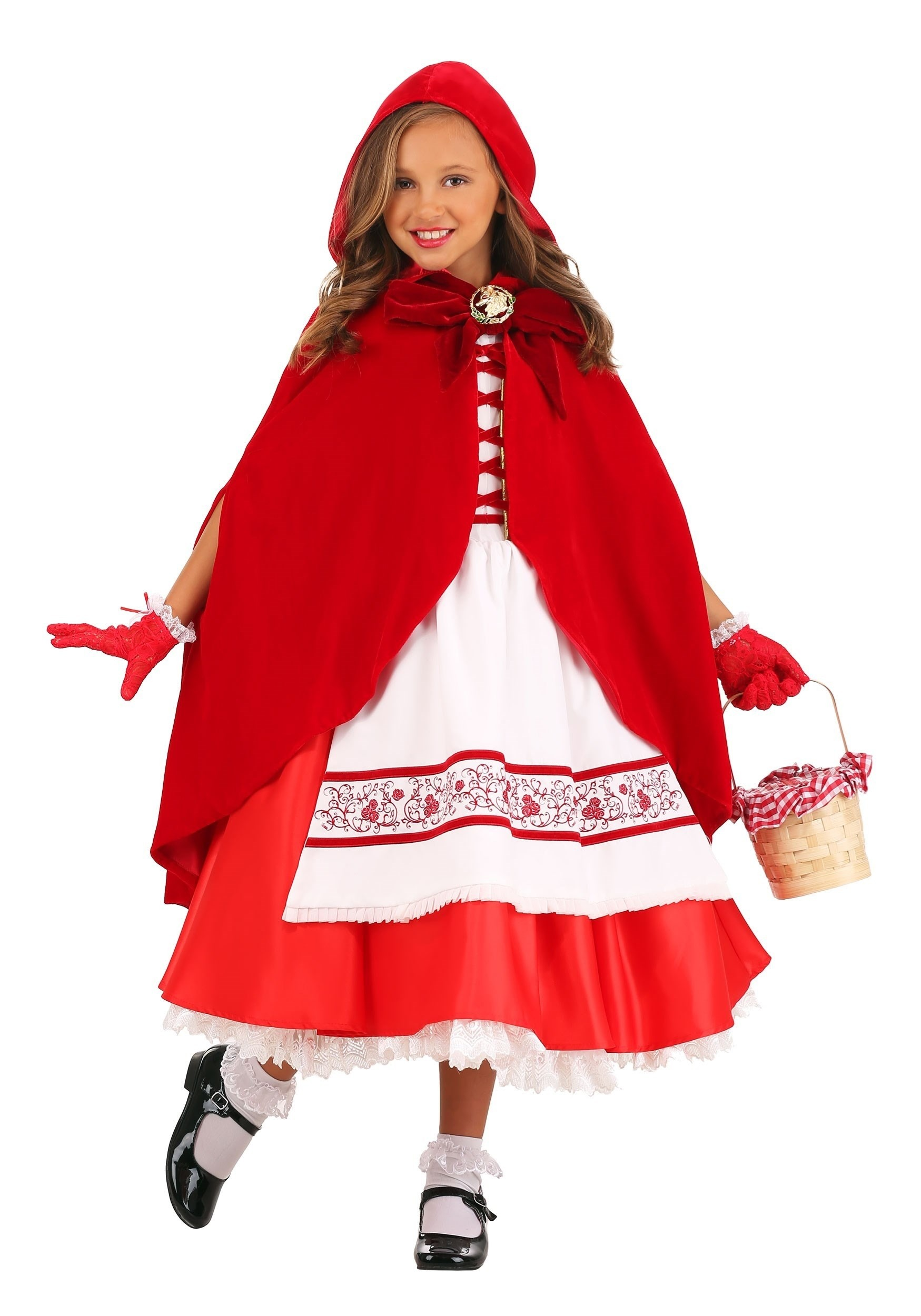 Premium Red Riding Hood Costume for Girls