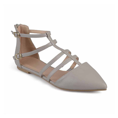 Journee Collection Womens Dorsy Ballet Flats, 11 Medium, Gray