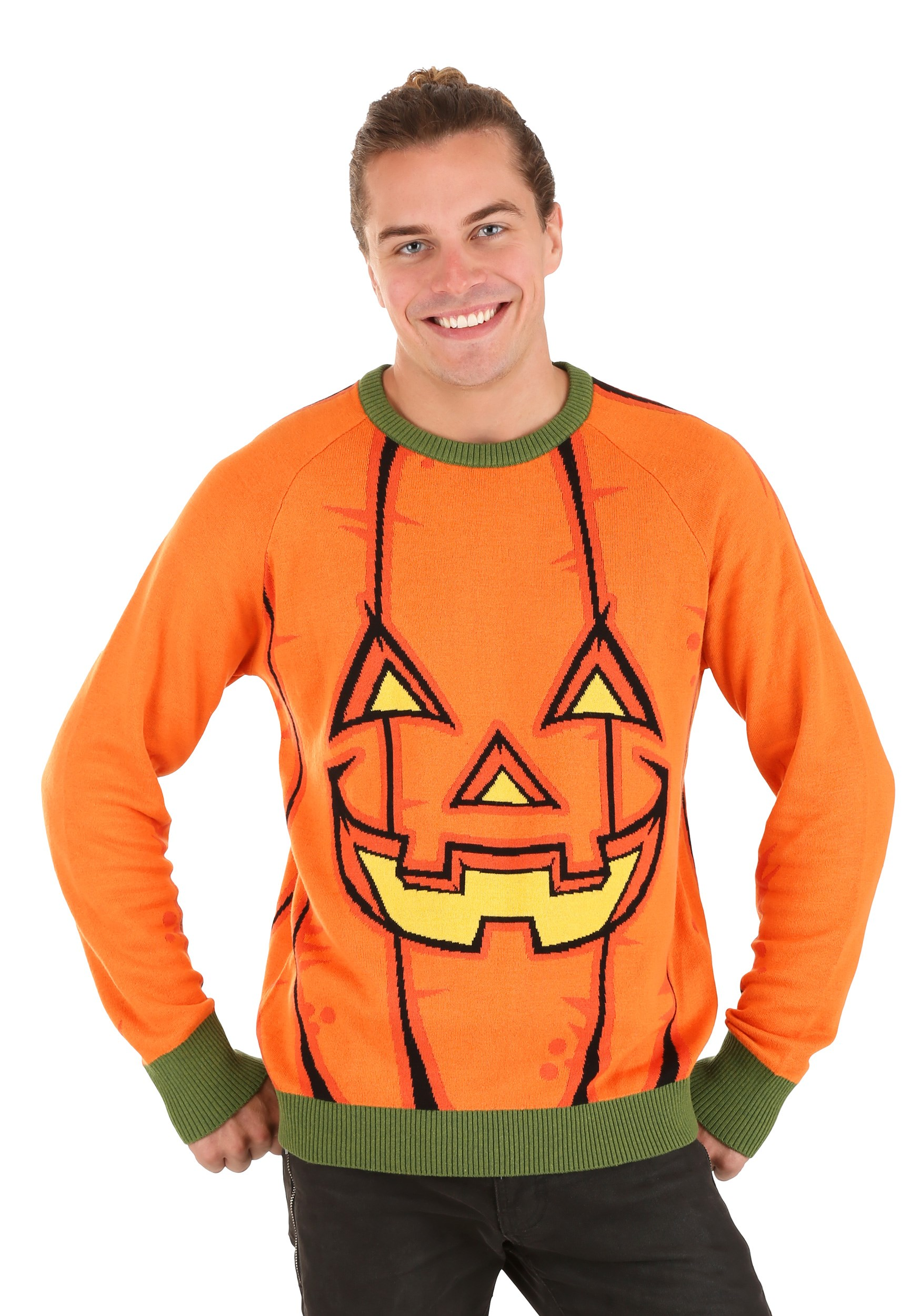 Pumpkin Ugly Halloween Sweater for Adults