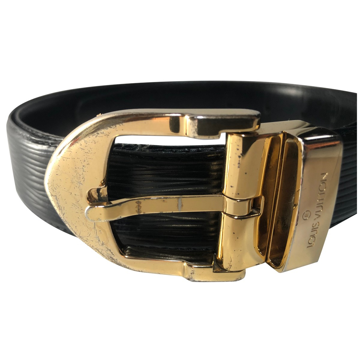 Louis Vuitton \N Black Leather belt for Men 100 cm