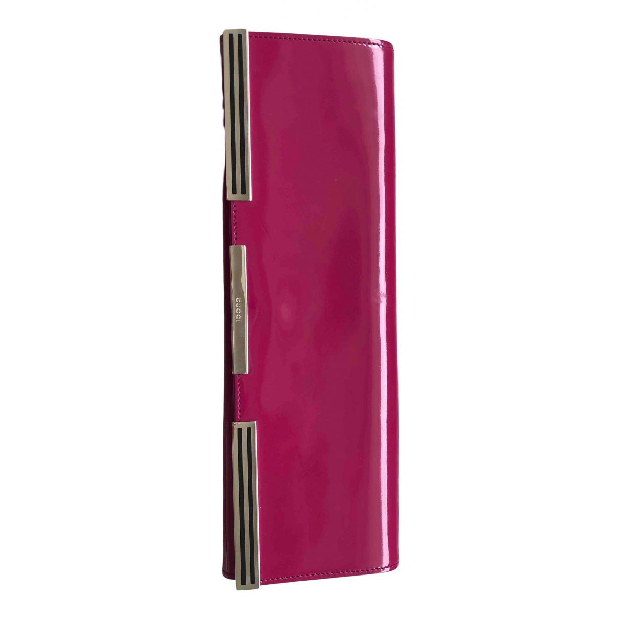 Gucci \N Pink Patent leather Clutch bag for Women \N