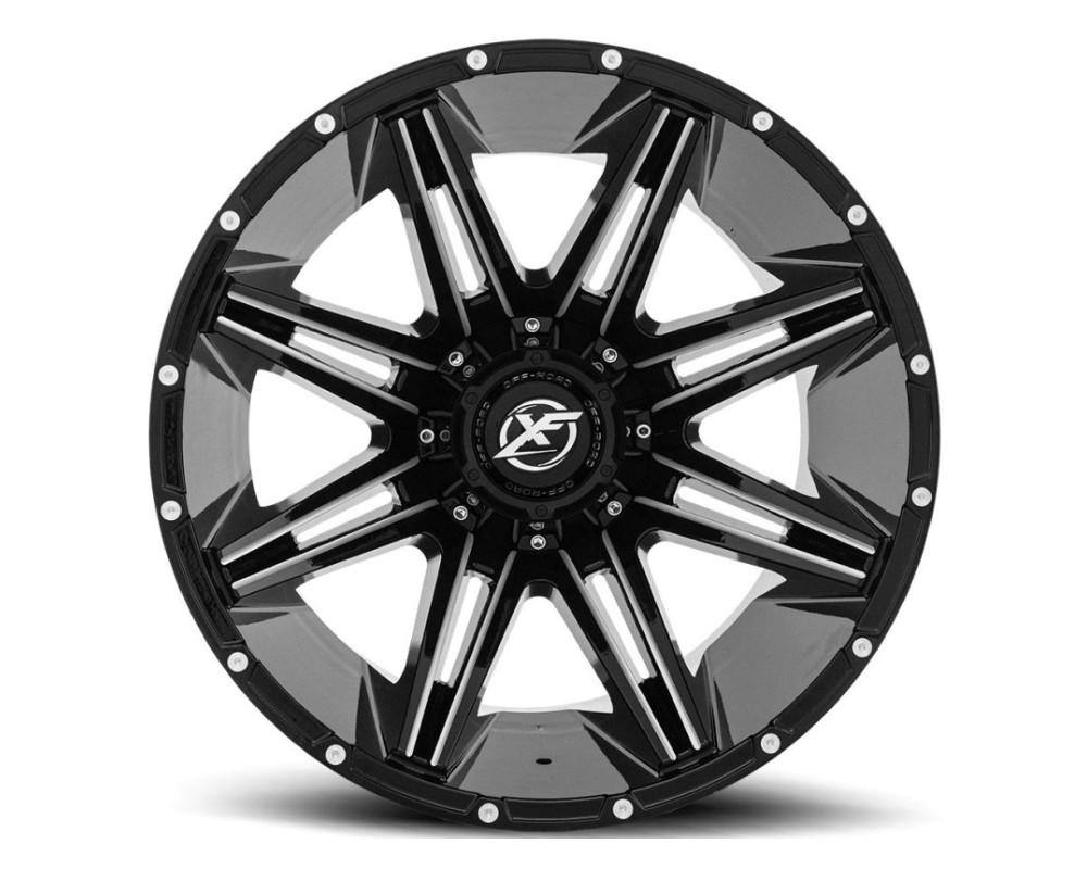 XF Off-Road XF-220 Wheel 20x9 8x165.1|8x170 12mm Gloss Black Milled