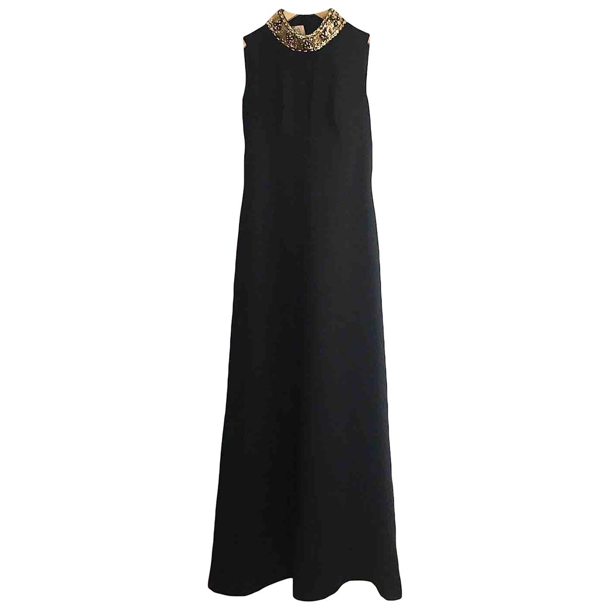 Non Signé / Unsigned Epaulettes Black dress for Women 38 FR