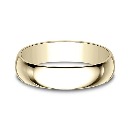 Mens 5mm 10K Yellow Gold Wedding Band, 9 , No Color Family