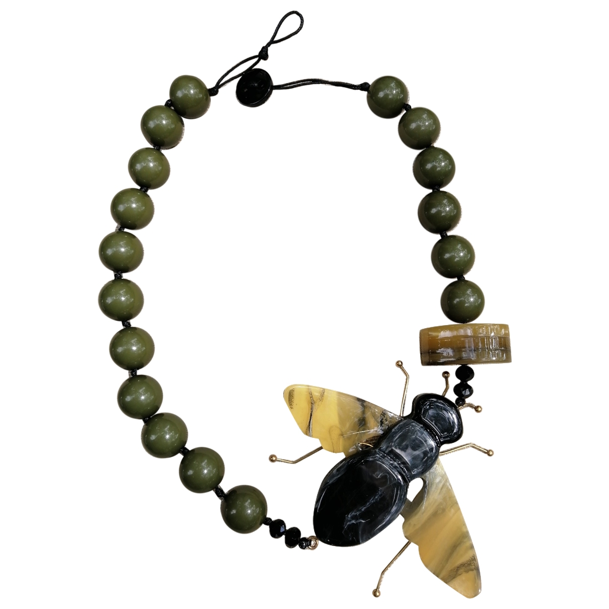 Non Signé / Unsigned Motifs Animaliers Multicolour Pearls necklace for Women \N