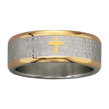 Men's Lord's Prayer Band Stainless Steel, 8 1/2 , No Color Family