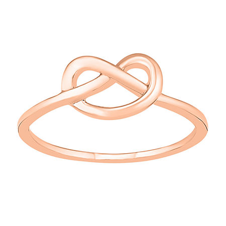 7MM 10K Rose Gold Knot Band, 4 , No Color Family