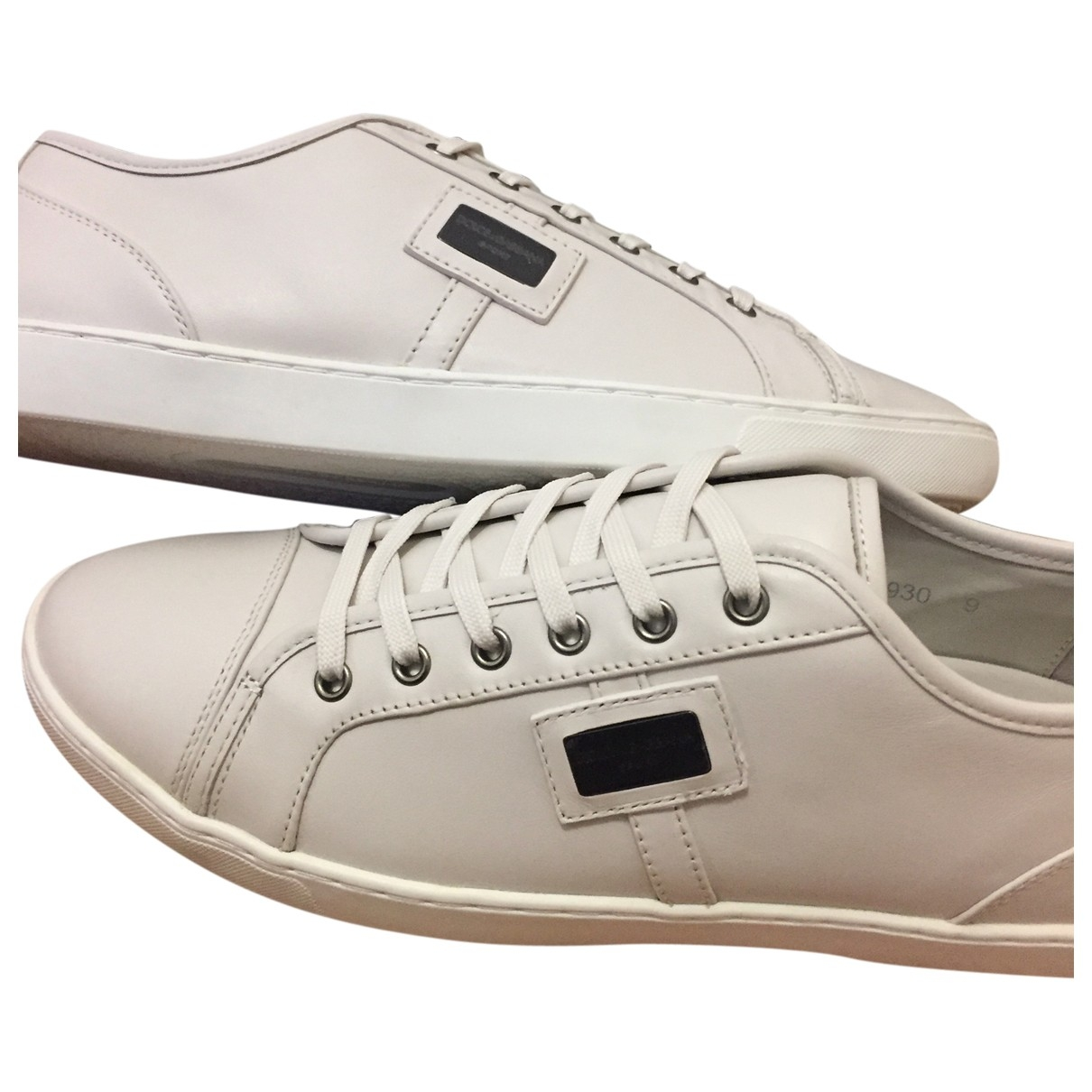 Dolce & Gabbana \N White Leather Trainers for Women 42 IT