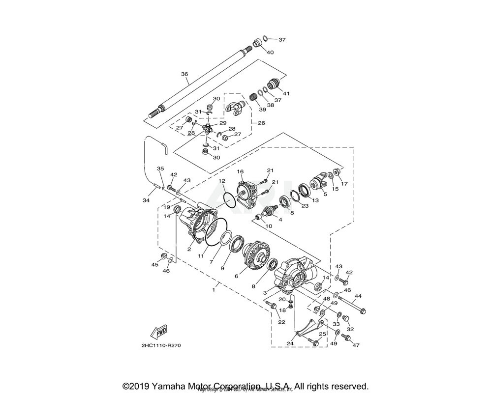 Yamaha OEM 1XD-46162-00-00 HOUSING, BEARING 2