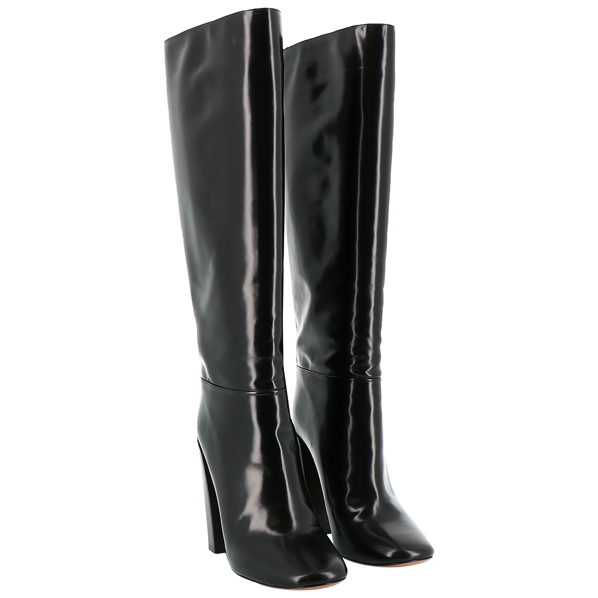 Chloé \N Black Leather Boots for Women 40 EU