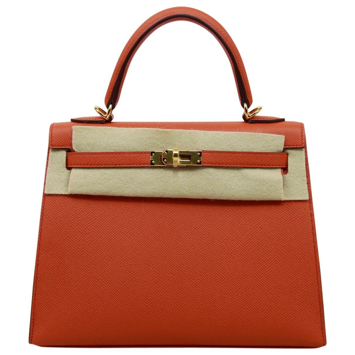 Hermès Kelly 25 Orange Leather handbag for Women \N