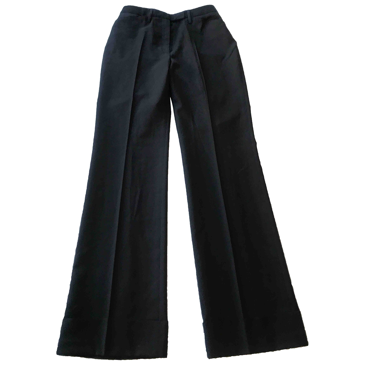 Dolce & Gabbana \N Black Wool Trousers for Women 40 IT