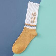 Men Letter Graphic Socks