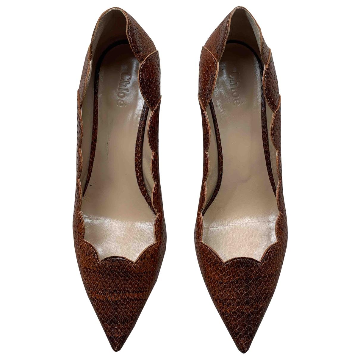 Chloé \N Brown Leather Heels for Women 38 EU