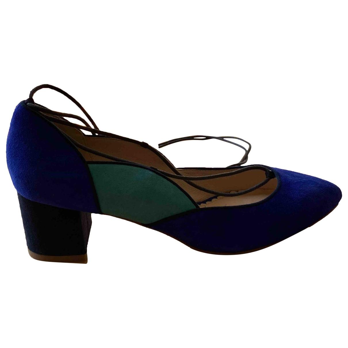 Mellow Yellow \N Blue Leather Flats for Women 40 EU