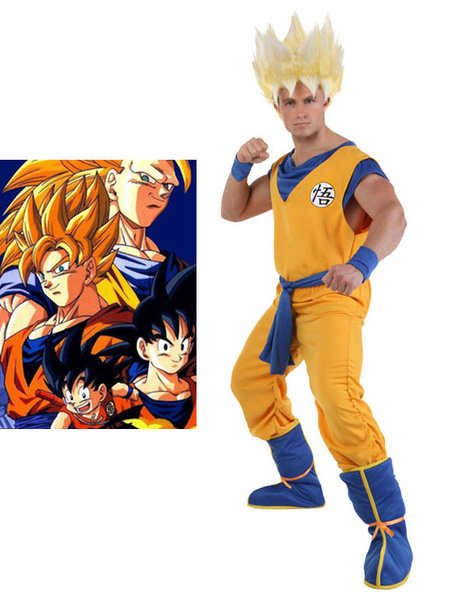 Milanoo Dragon Ball Son Goku Kid Halloween Cosplay Costume