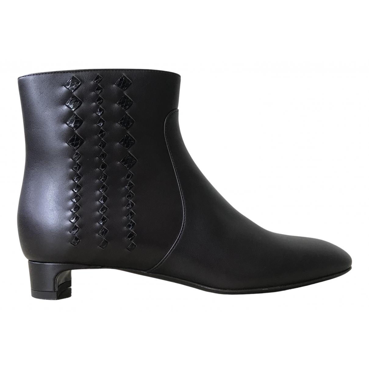Bottega Veneta \N Brown Leather Ankle boots for Women 37 EU
