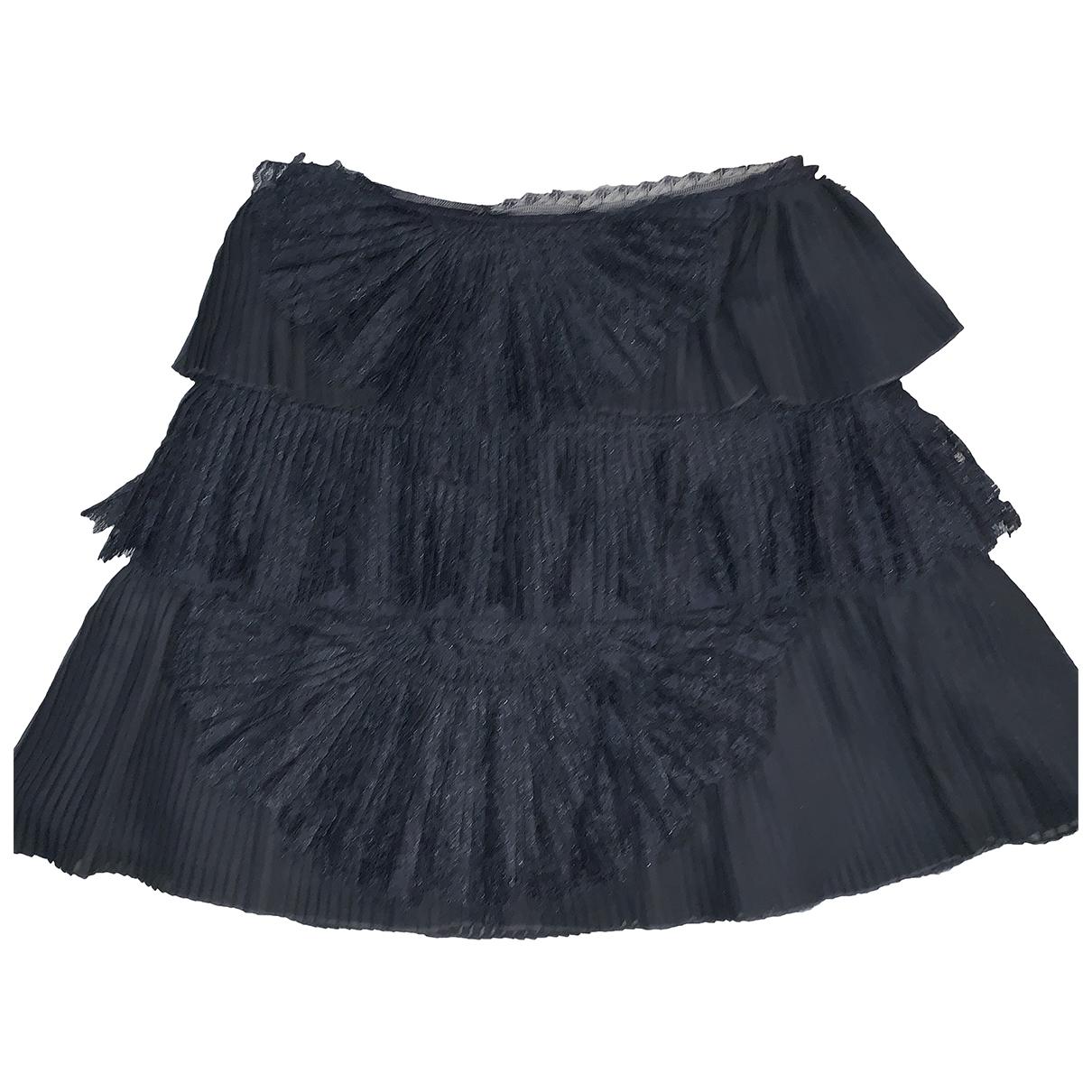 Alice & Olivia \N Black Silk skirt for Women 8 UK