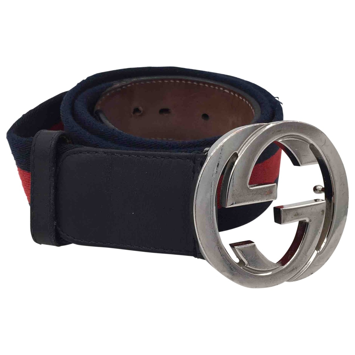 Gucci Interlocking Buckle Cloth belt for Men 85 cm