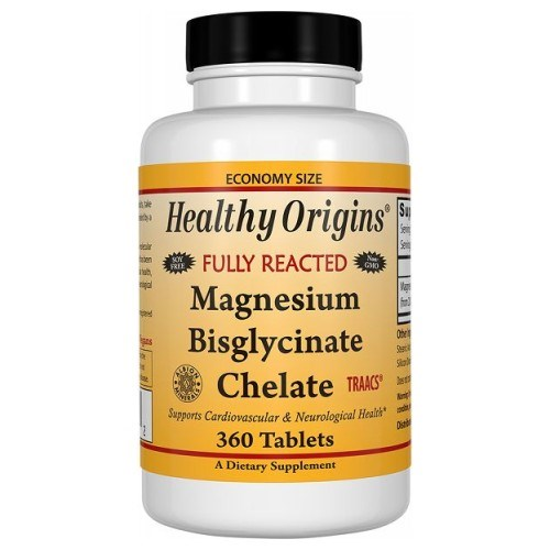 Magnesium Bisglycinate 360 Tabs by Healthy Origins