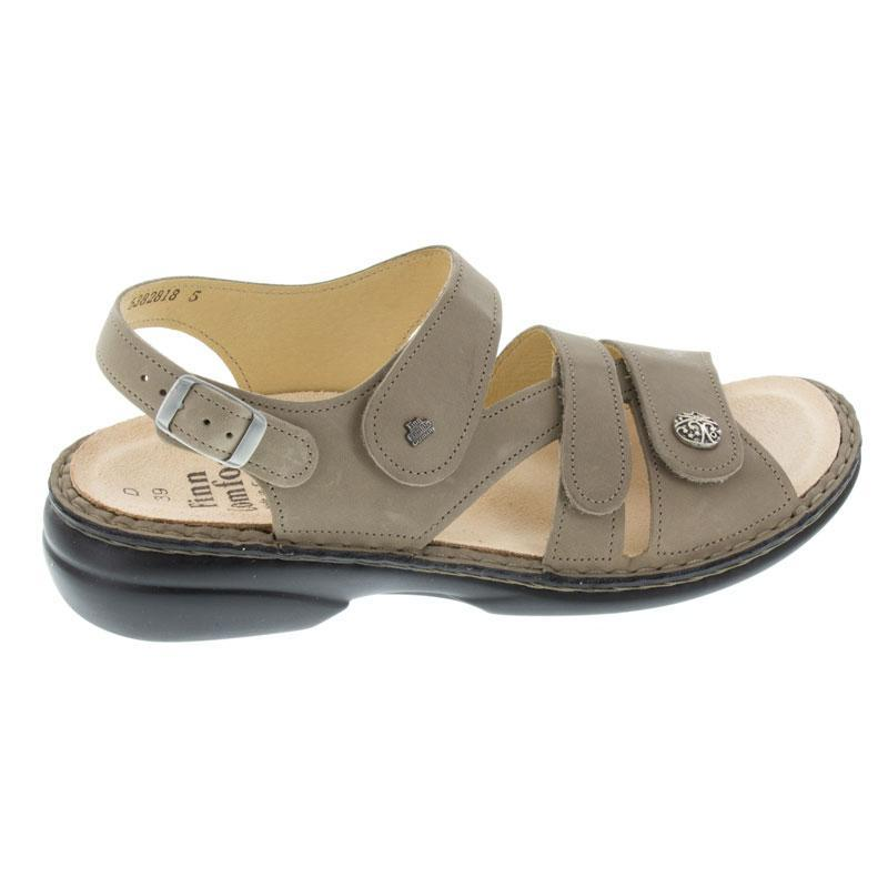 Finn Comfort Gomera Taupe Leather Soft Footbed 36