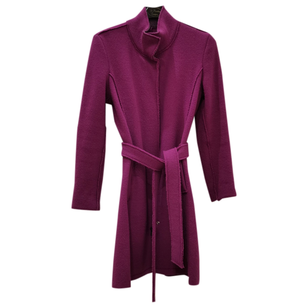 Non Signé / Unsigned \N Pink Wool coat for Women 40 IT