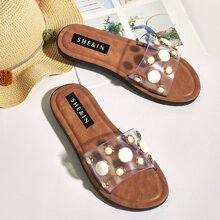 Clear Wide Fit Slide Sandals