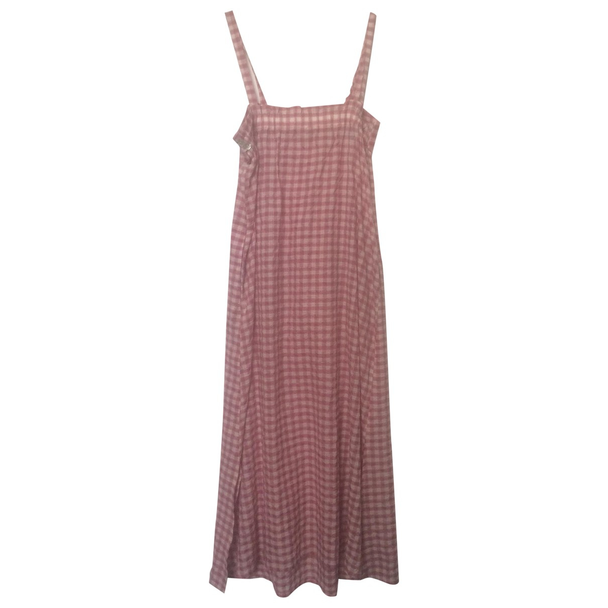 Non Signé / Unsigned \N Pink Cotton dress for Women 40 FR