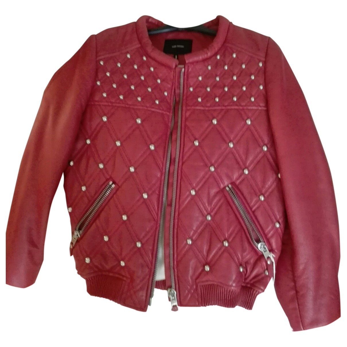 Isabel Marant \N Red Leather Leather jacket for Women 38 FR