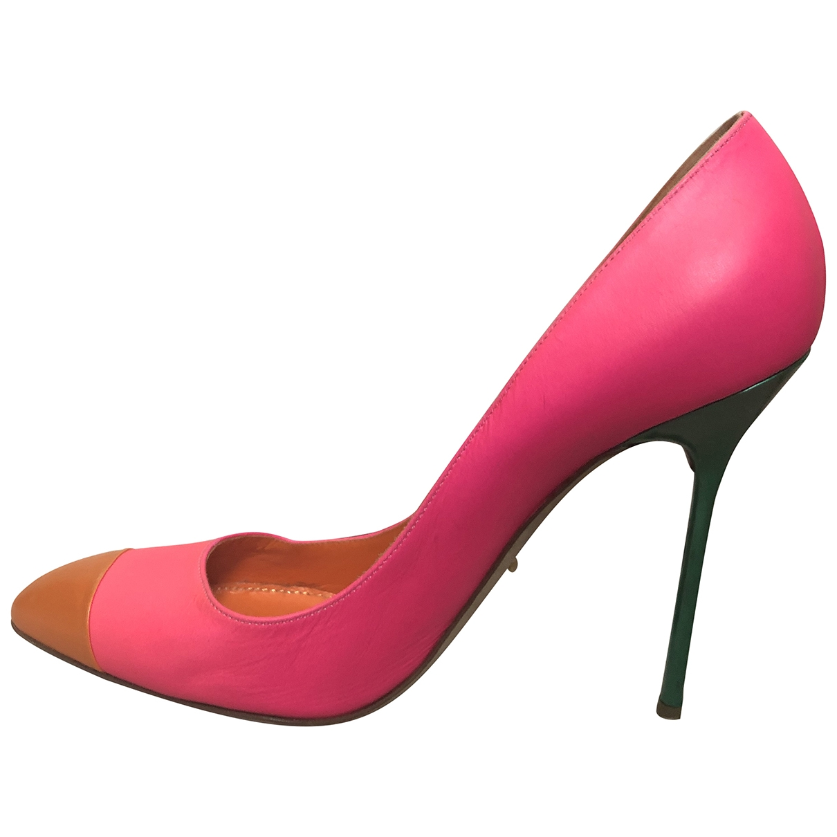 Sergio Rossi \N Pink Leather Heels for Women 40 EU