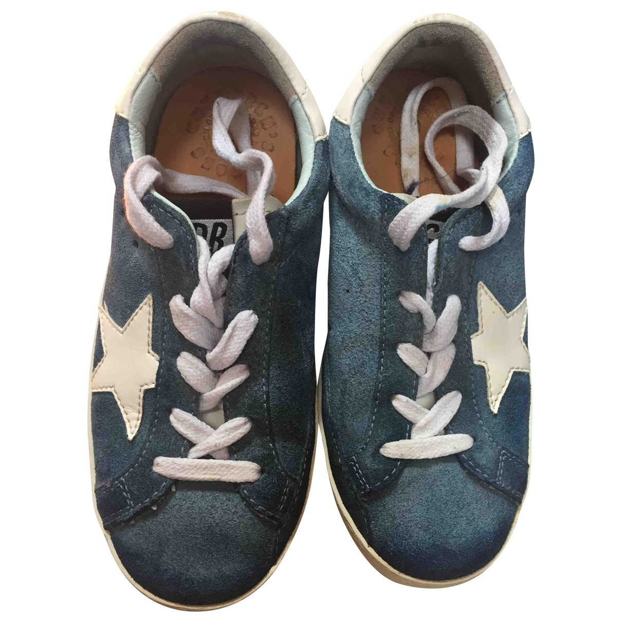 Golden Goose \N Turquoise Suede Trainers for Kids 29 EU