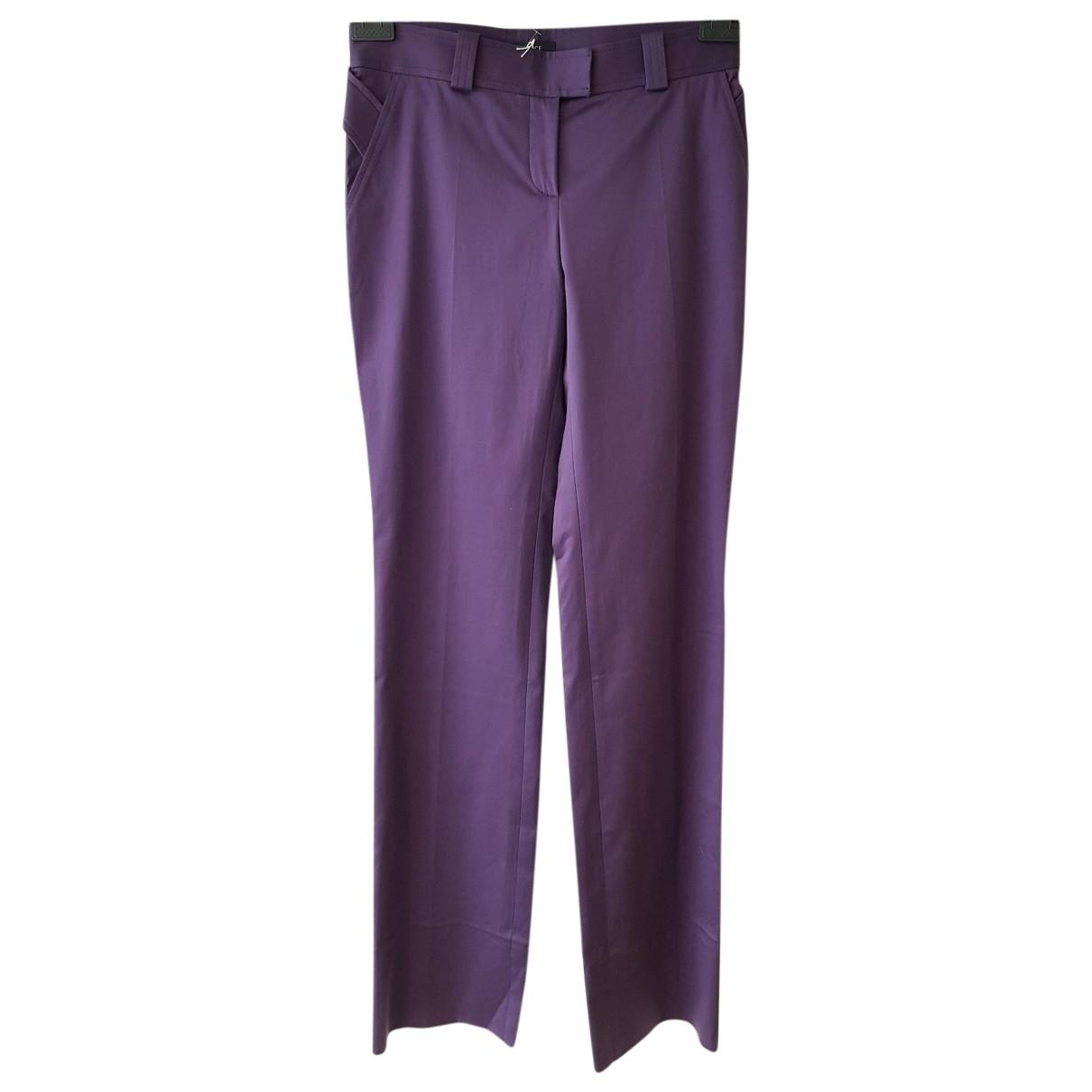 Versace \N Purple Cotton Trousers for Women 42 IT