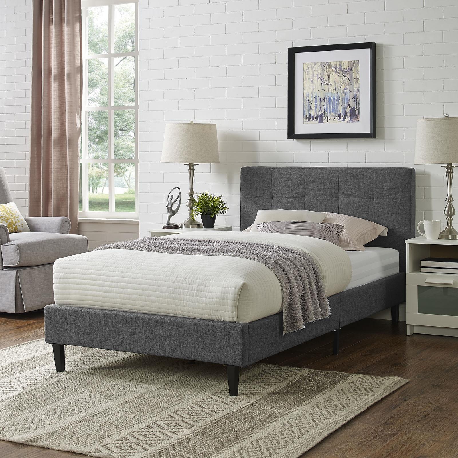 Linnea Twin Bed in Gray