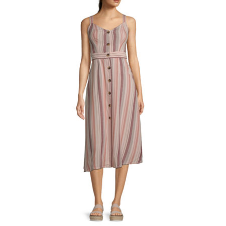 ana Button Front Convertible Strap Dress, Small , Pink