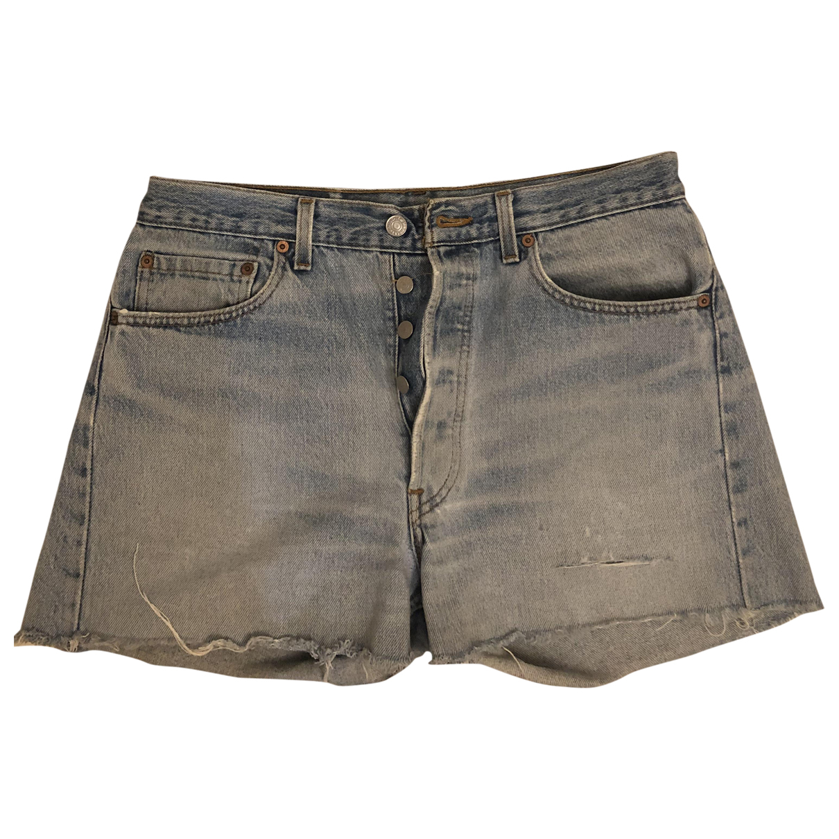 Levi's Vintage Clothing \N Blue Cotton Shorts for Women 38 FR