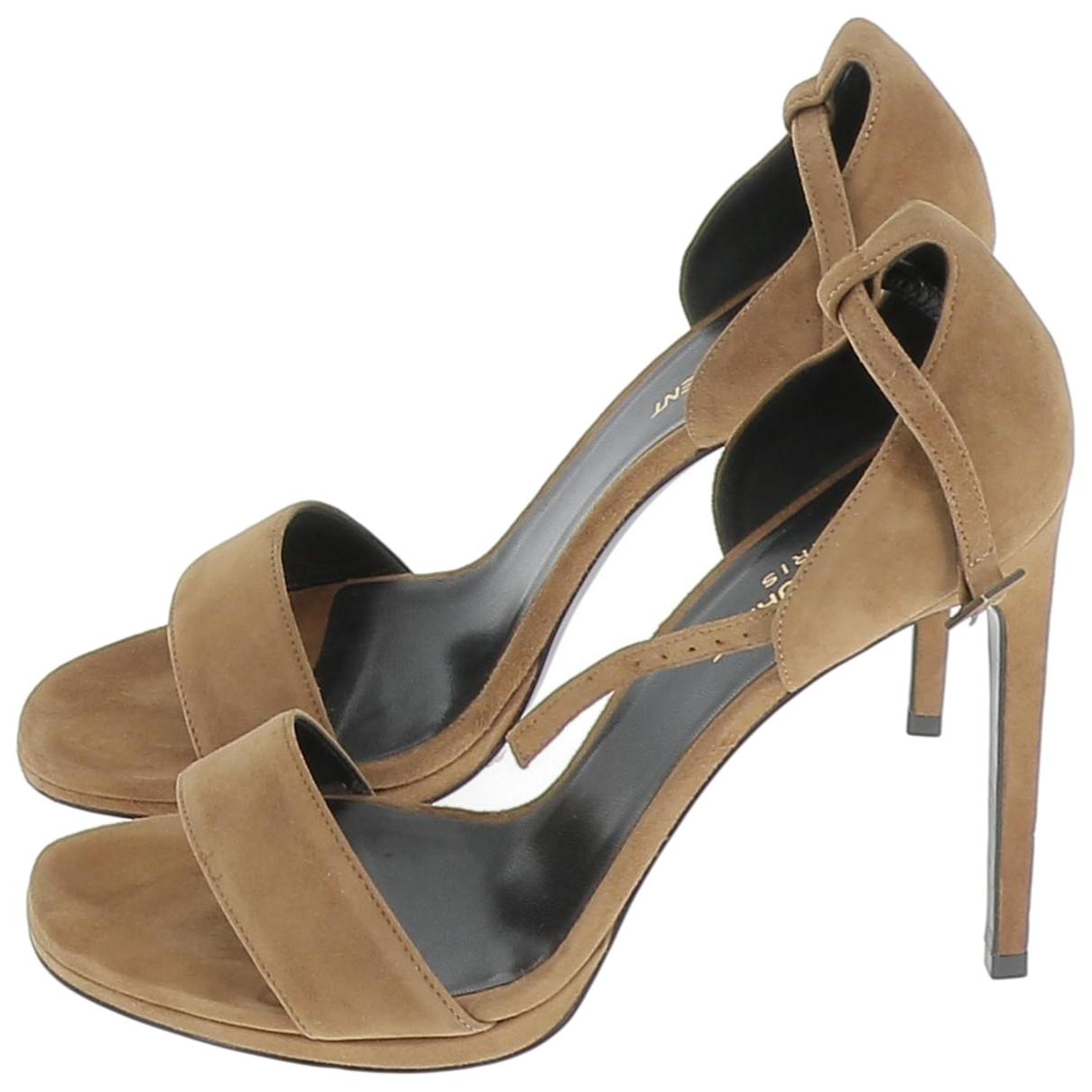 Saint Laurent \N Brown Suede Sandals for Women 40 EU