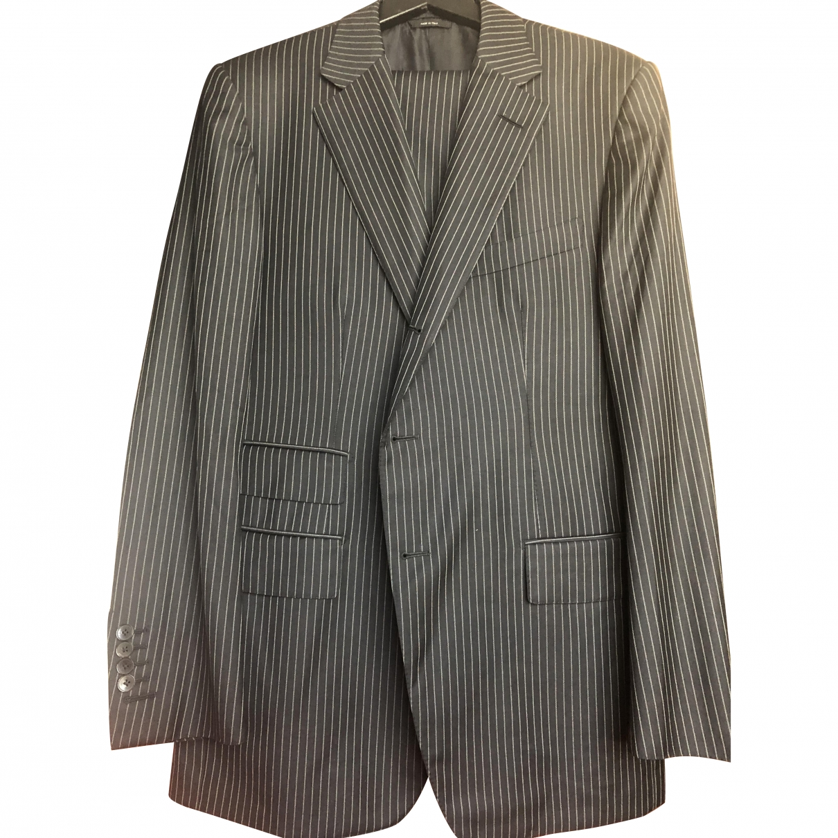 Tom Ford \N Grey Wool Suits for Men 54 IT