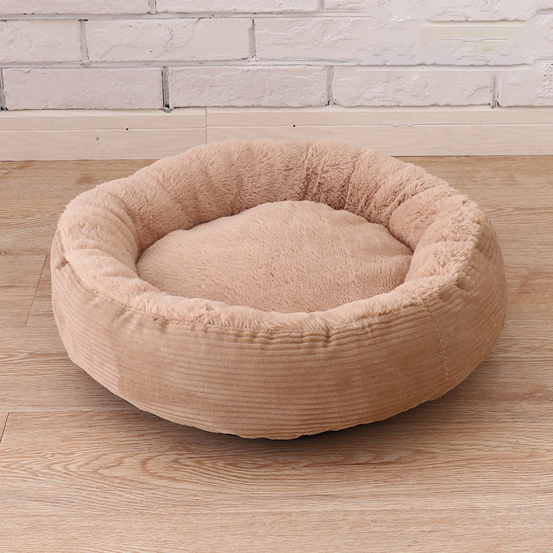 3 Colors Anti-scratch Winter Warm Pet Bed Kennel Dog Cat Soft Plush Nest Bed