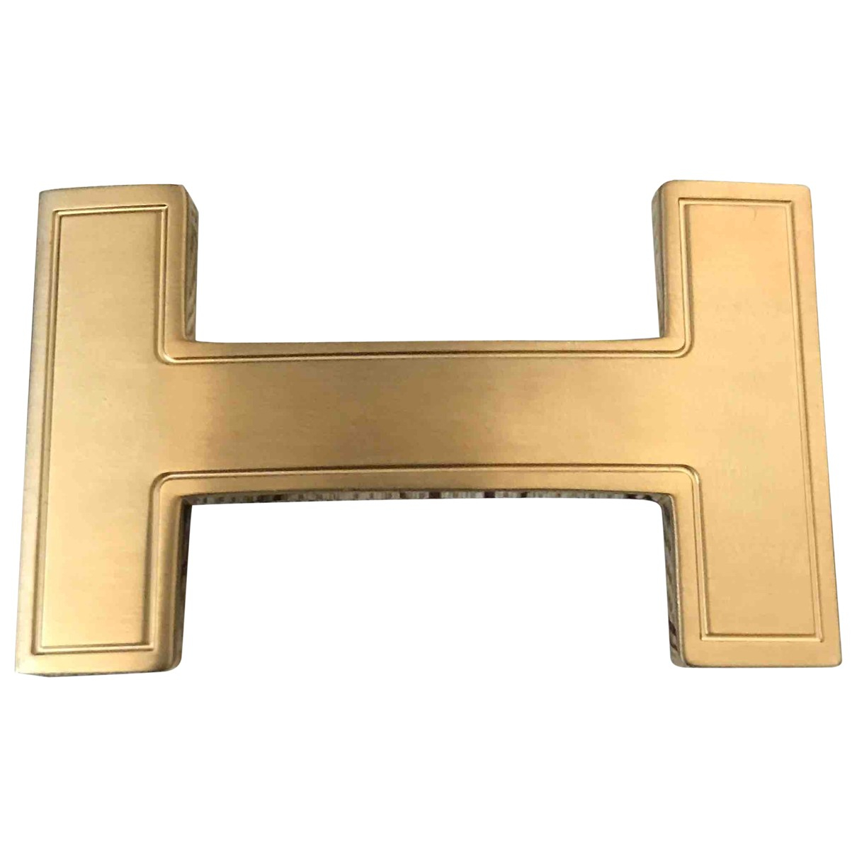 Hermès Boucle seule / Belt buckle Gold Metal belt for Men M international