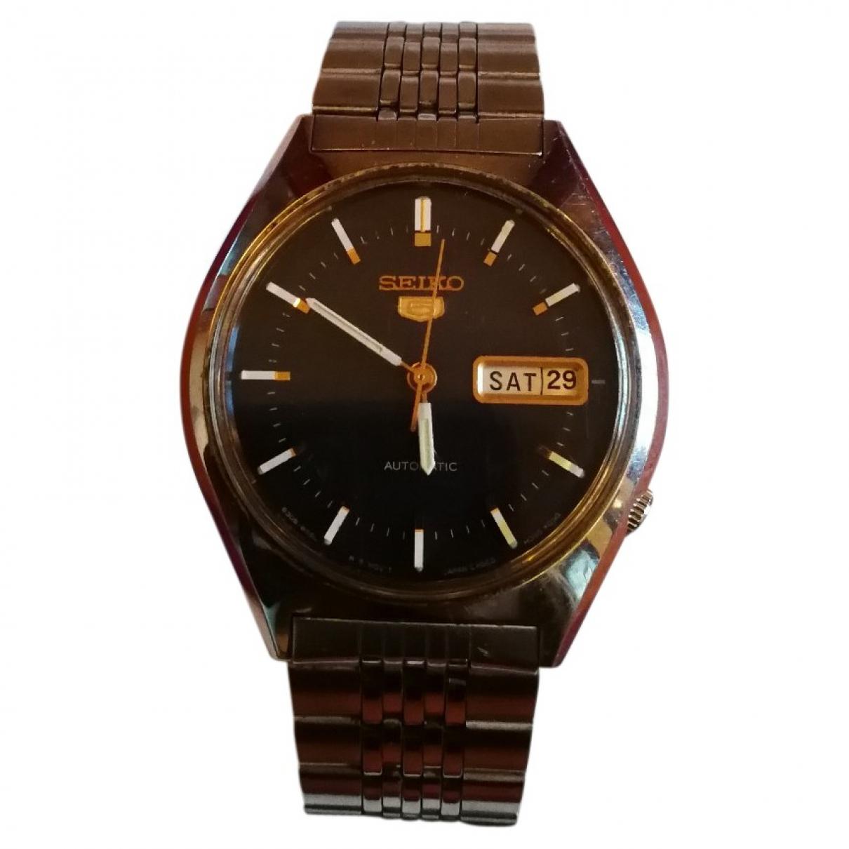 Seiko \N Black Steel watch for Men \N