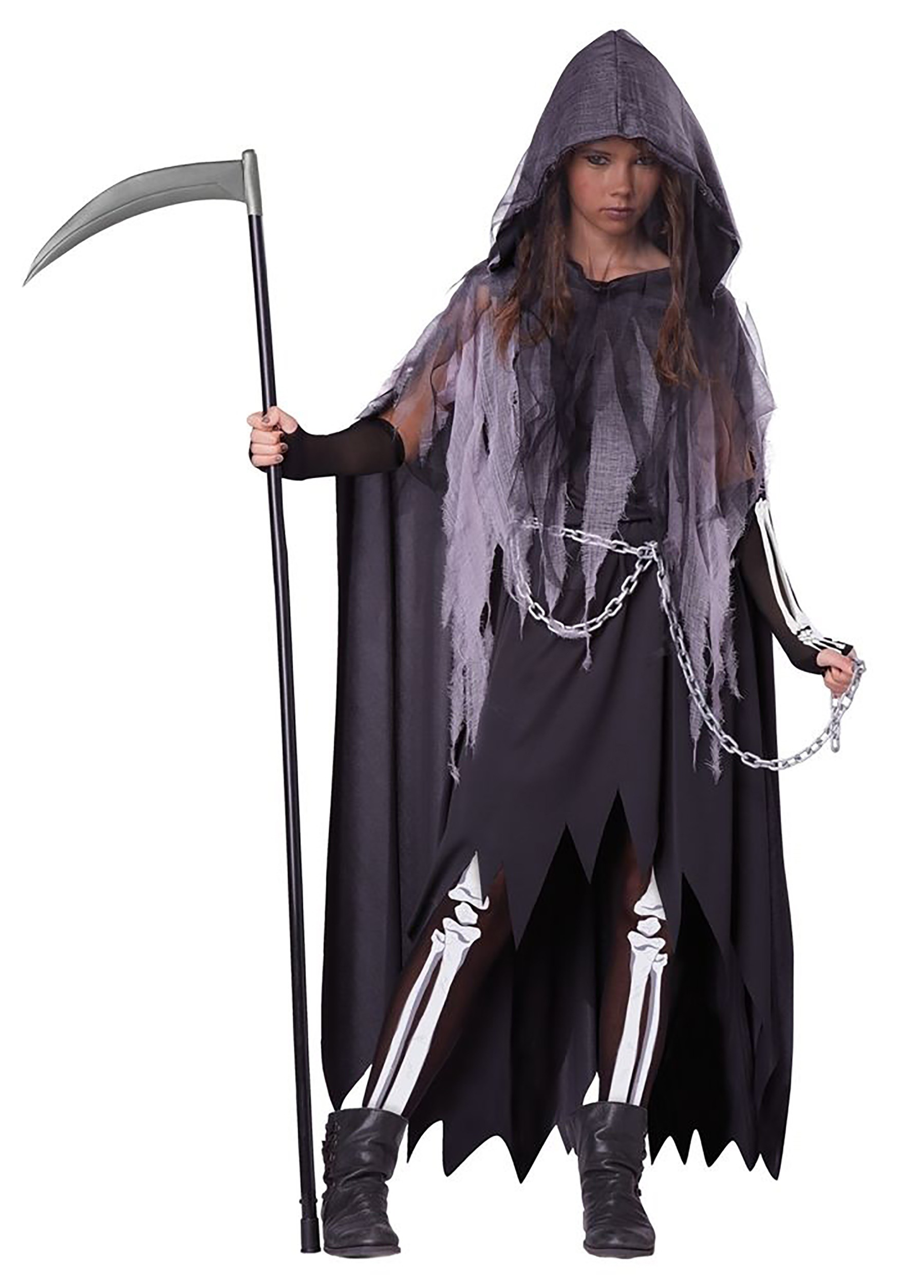 Tween Miss Reaper Costume for Girls | Gothic Cosplay
