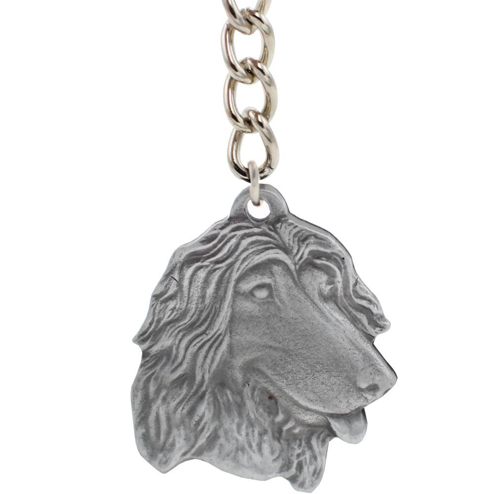 Dog Breed Keychain USA Pewter - Afghan Hound (2.5
