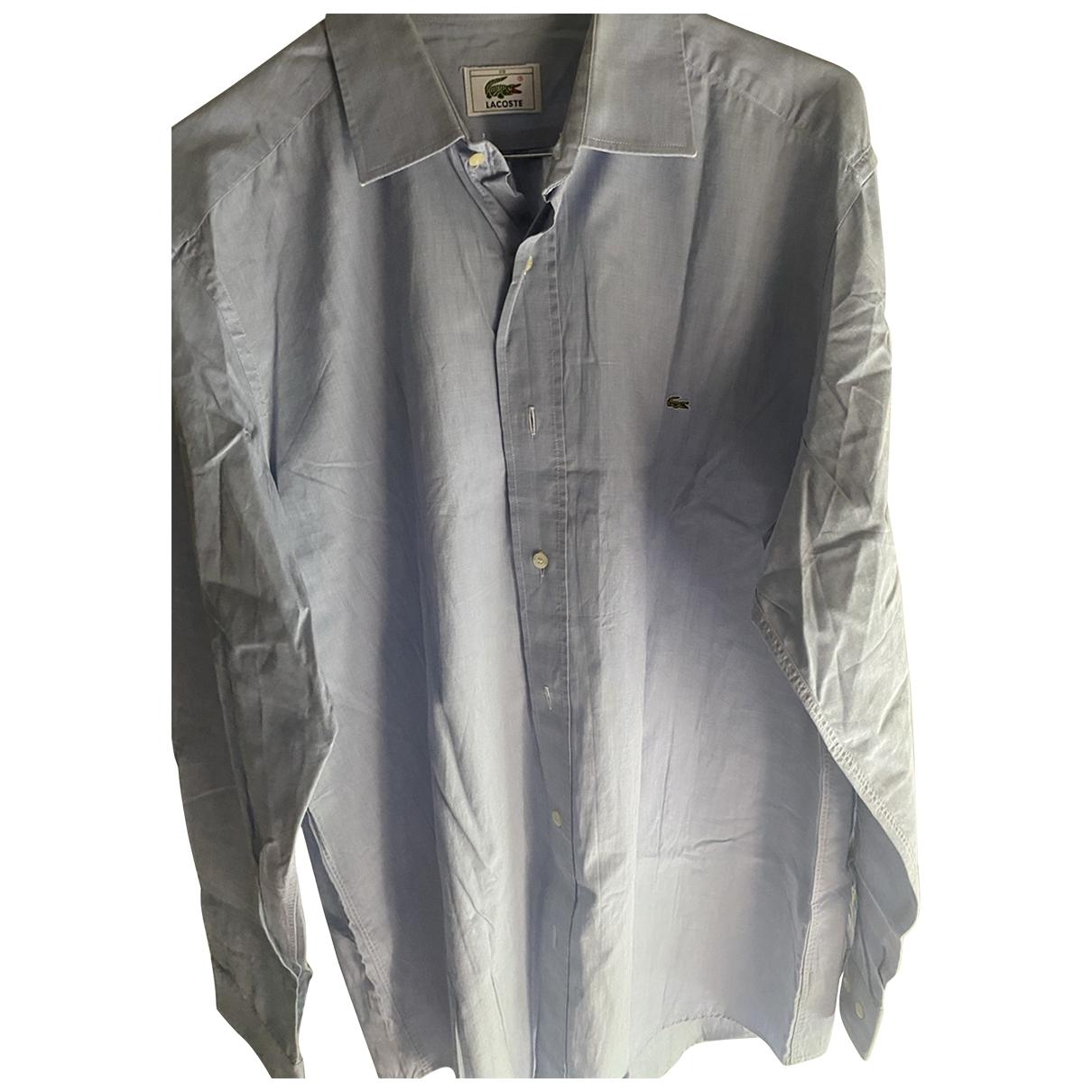 Lacoste \N Blue Cotton Shirts for Men 39 EU (tour de cou / collar)