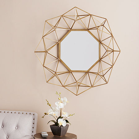 Southern Enterprises Holton Wall Mirror, One Size , Yellow