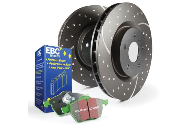 EBC Brakes S3KF1024 S3KF Kit Number Front Disc Brake Pad and Rotor Kit DP61247+GD7087 Acura MDX Front 2003-2006 3.5L V6