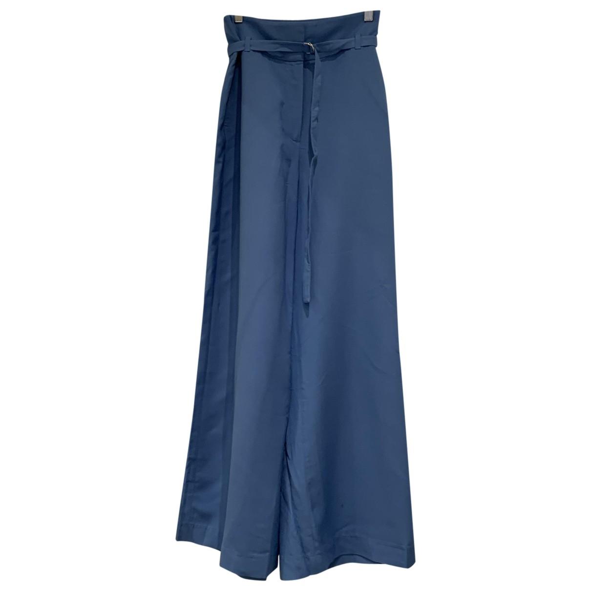 Massimo Dutti \N Blue Trousers for Women 38 FR
