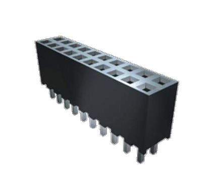 Samtec , SQT 2mm Pitch 4 Way 1 Row Right Angle PCB Socket, Surface Mount, Through Hole Termination (69)